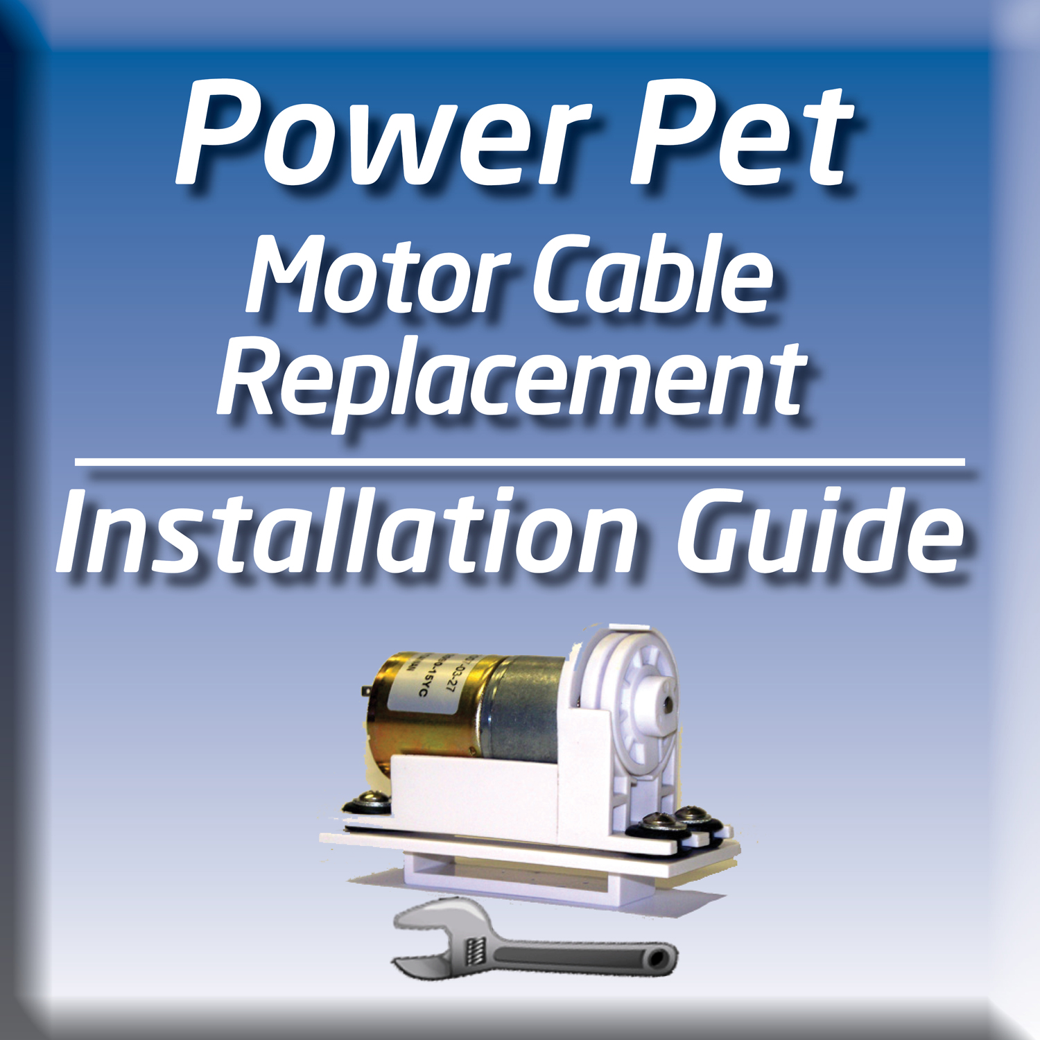 Quickly replace your doggy door motor cable