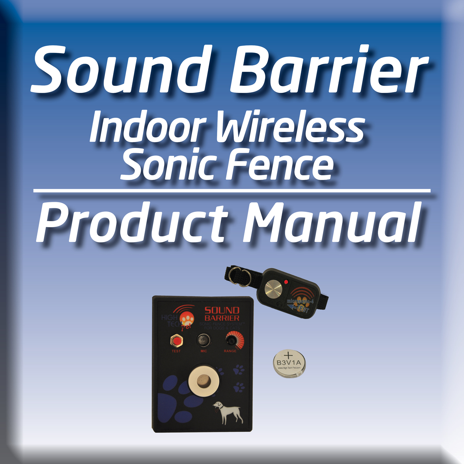 Try our sound barrier training manual for your invisible dog fence
