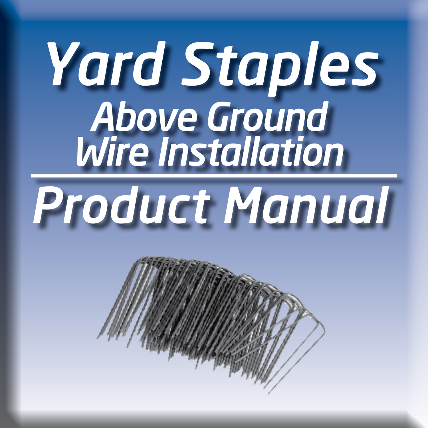 YS-50 YARD STAPLES FOR ABOVE GROUND ELECTRIC FENCE WIRE INSTALLATION