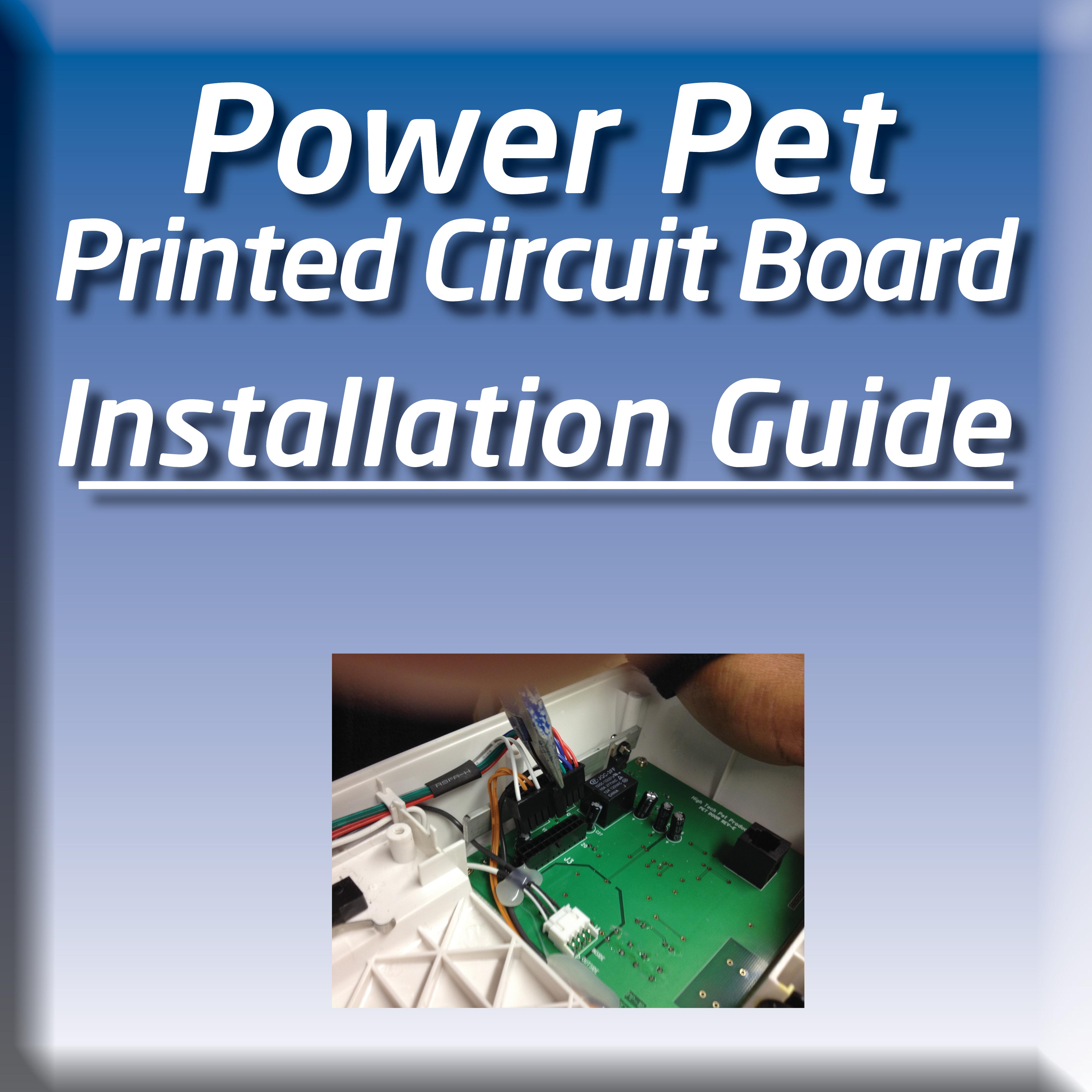circuit board for power pet door