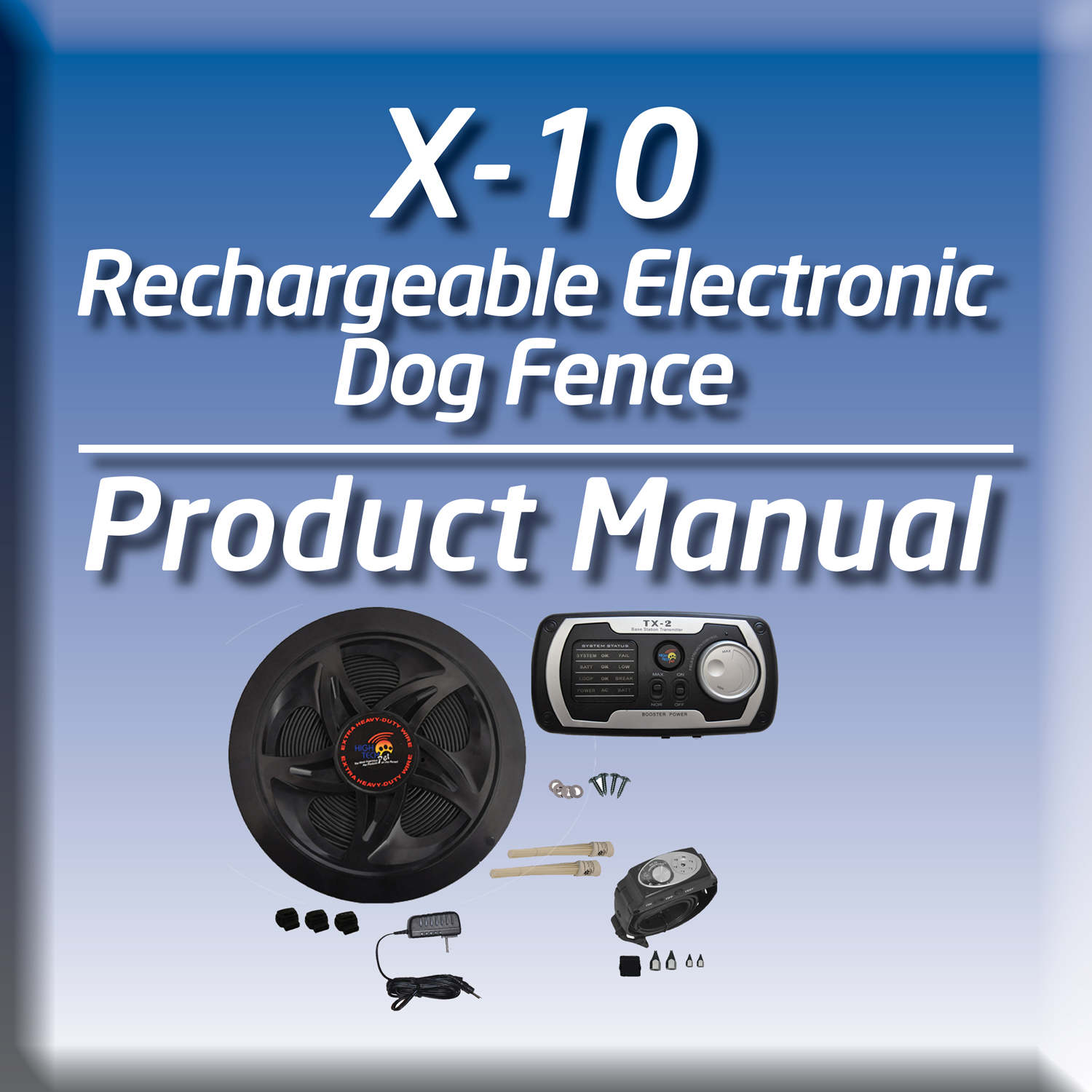 This package includes dog fence wire